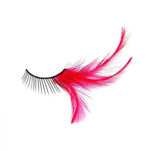 F RED LASHES